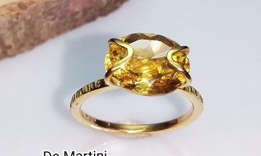 ANELLO IN ORO GIALLO CITRINO IMPERIALE
